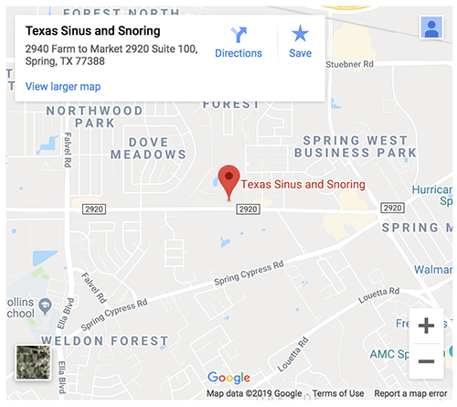 Texas Sinus Map